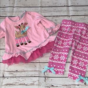5/$25 Rare Editions Baby Girl 6/9 Months Set